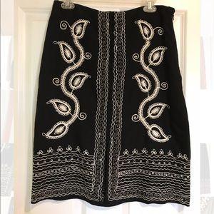 BCBG embroidered skirt